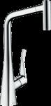 HANSGROHE METRIS M71 virtuves izlietnes jaucējkrāns 320 ar izvelkamu dušu 14820000