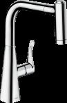 HANSGROHE METRIS M71 virtuves izlietnes jaucējkrāns 220 ar izvelkamu dušu 14834000