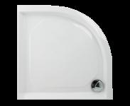 PAA CLASSIC RO80 R550 Dušas paliktnis 80x80 ar paneli