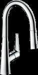 HANSGROHE Talis M51 virtuves izlietnes jaucējkrāns 200 ar izvelkamu dušu 72813000