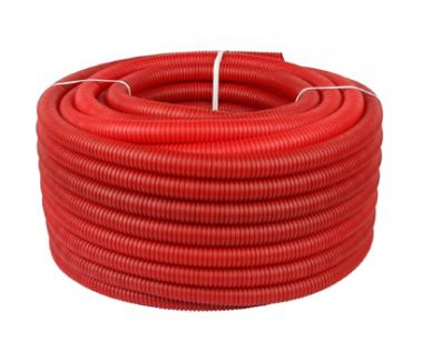 Apvalkcaurule 23 mm sarkana (100m)