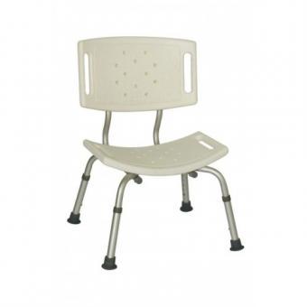 Dušas sēdeklis ar platu muguras balstu regulējama augstuma