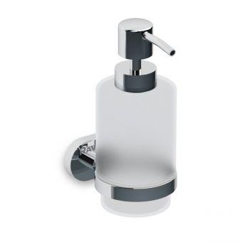 RAVAK CHROME CR 231.00 turētājs ar stikla šķidro ziepju trauku X07P223