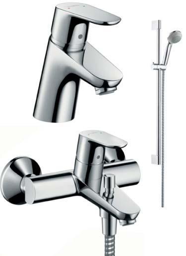 HANSGROHE Focus ComfortSet izlietnes, vannas jaucējkrāns + dušas komplekts 31934000