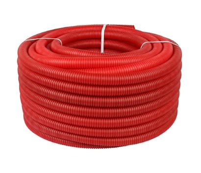 Труба гофрированная защитная 23 mm красная (100m)
