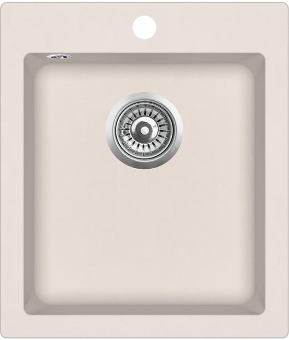 AQUASANITA SIMPLEX Akmens masas izlietne 42.5x50 SQS100AW
