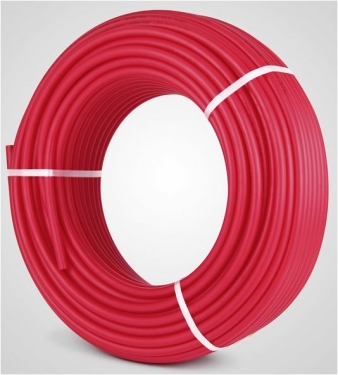 Grīdas apkures caurule PE-RT/EVOH/PE-RT 16x2 1m sarkana